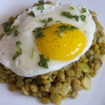 Curried Lentils and Eggs