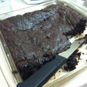 Dark Chocolate Brownies with Bacon